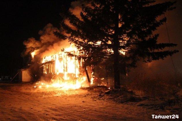 ВТайшете сгорел магазин «Светофор»