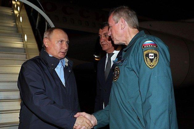 Путин прибыл в Братск