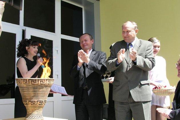 Глава администрации Читинской области Равиль Гениатулин и мэр Читы Анатолий Михалёв на открытии