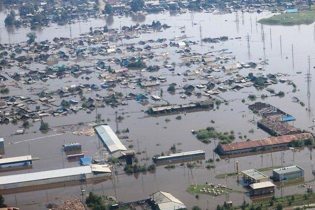Тулун во время наводнения в июне 2019