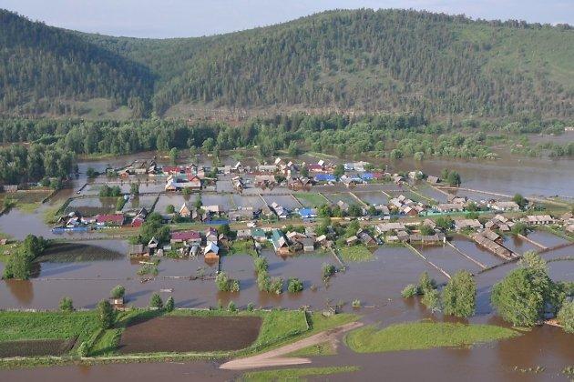 Паводок в посёлке Соляная