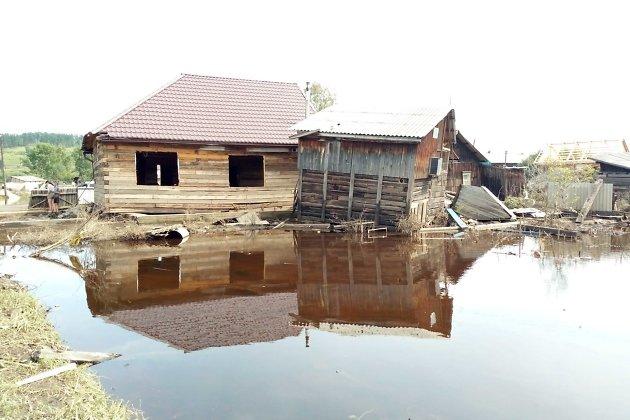 Тулун в августе 2019 года после наводнения