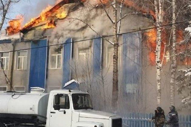 Пожар в школе в селе Алексеевске