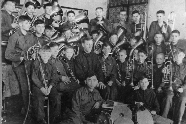 Духовой оркестр детдома №1 Читы. 1941 год