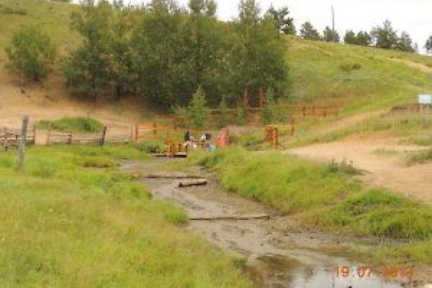 Карповский источник благоустраивают сотрудники минприроды, 2013 год