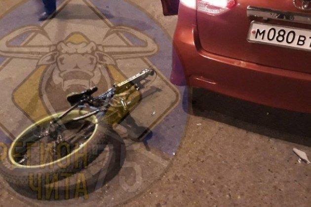 ДТП с велосипедистом в Чите