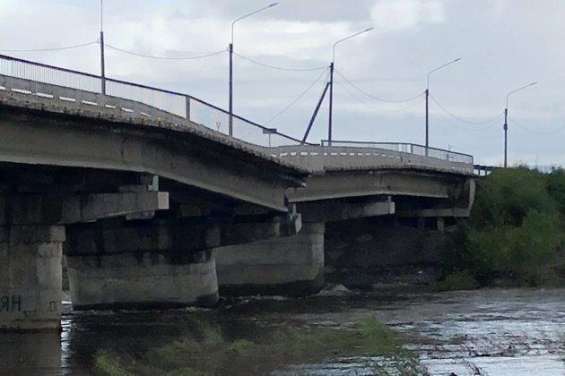 Романовский мост в Чите утром 13 июля