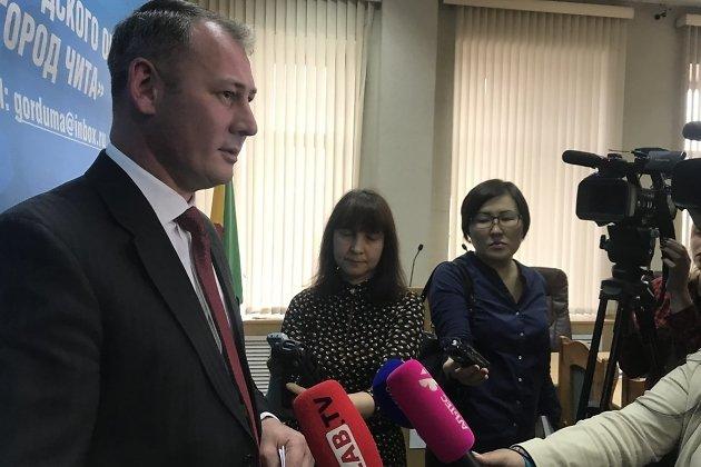 Пресс-подход Александра Сапожникова после заседания гордумы