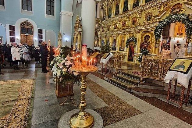 Рождественская служба в Казанском кафедральном соборе