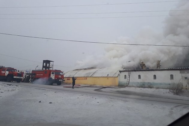 Пожар в Песчанке