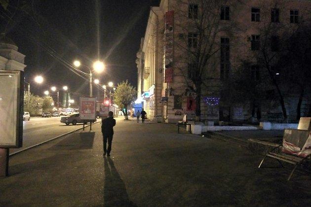 Улица Ленина после 21.00