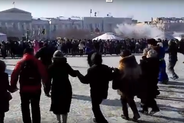 Кадр со съёмок Гранд-Ёхора на площади Ленина в Чите