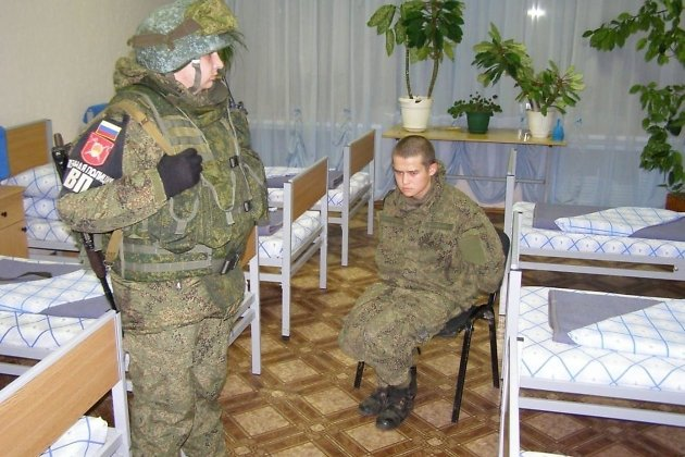 Рядовой Шамсутдинов после задержания