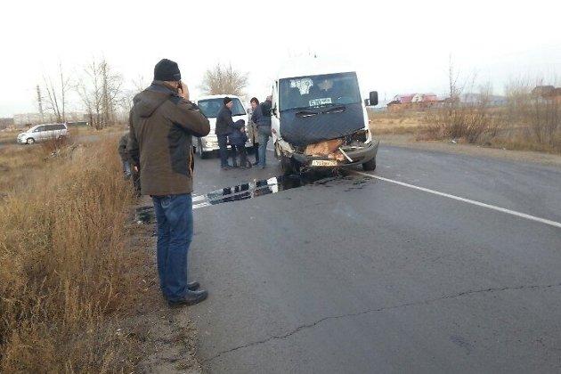 Авария с рейсовым автобусом