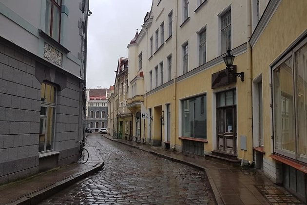 Переулок Хобусепеа в Таллине - столице Эстонии