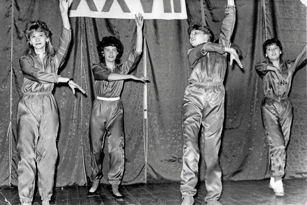 Диско группа Людмилы Толкалиной на концерте 27 съезда КПСС, 1986 год