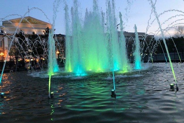 Новый фонтан во время испытаний