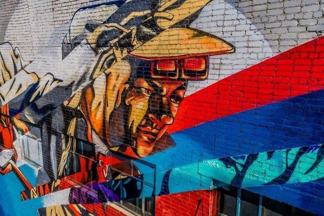 Граффити на котельной в Могоче