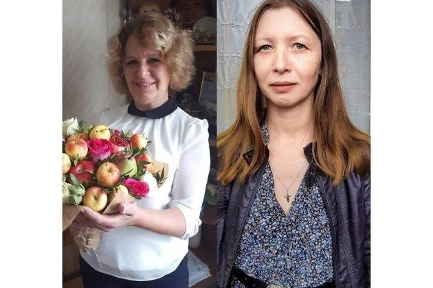 Слева Анна Русанова, справа Юлия Матафонова
