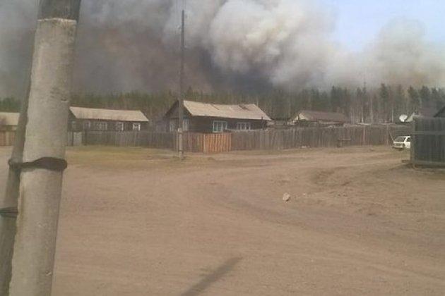 Лесной пожар у Могзона