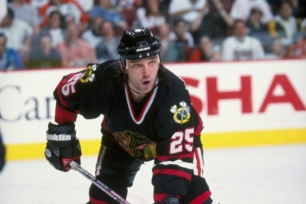 Сергей Кривокрасов в форме команды НХЛ «Чикаго Блэкхоукс»