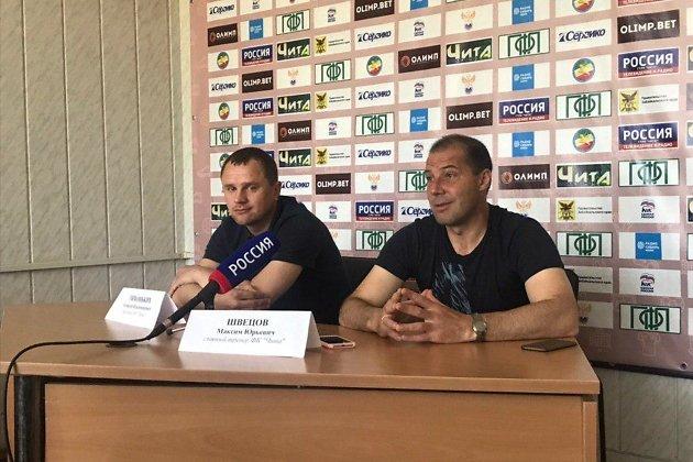 Пресс-конференция с новым главным тренером ФК «Чита» Максимом Швецовым
