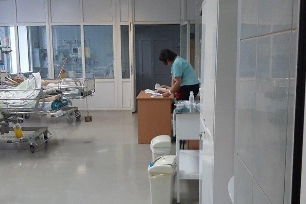реанимация. На фото - пациенты, не являющиеся пострадавшими в ДТП с автобусом