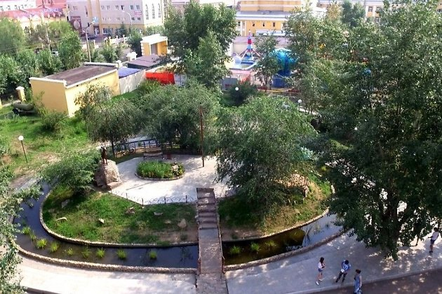 Водоём «Остров сокровищ» в парке Дома офицеров
