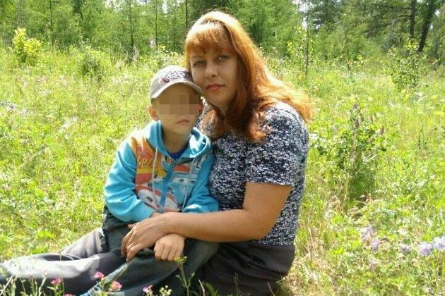 Елена Акимкина со своим сыном