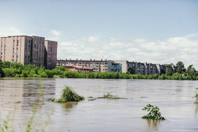 Река Читинка в районе улицы Малая