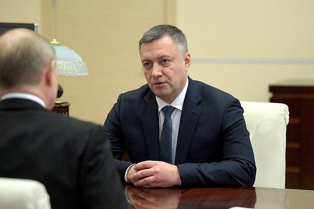 врио губернатора Иркутской области Игорь Кобзев на встрече у президента России Владимира Путина