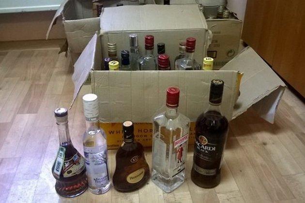 Изъятый алкоголь