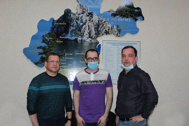 Михаил Козиев, Артур Сергеев и Виталий Нечаев (слева направо)