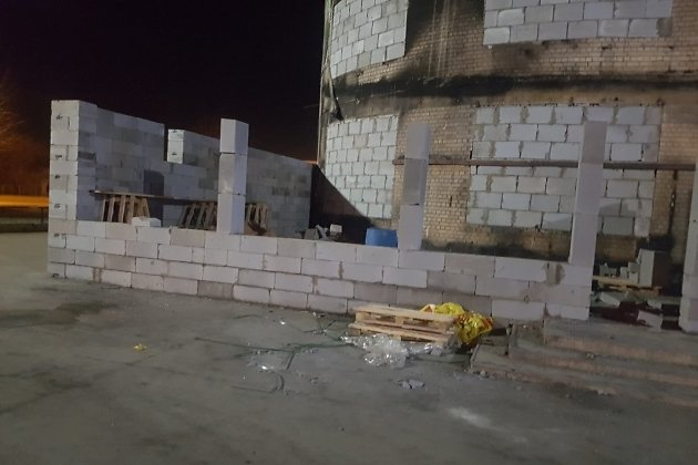 Сгоревший торговый центр в Чите.