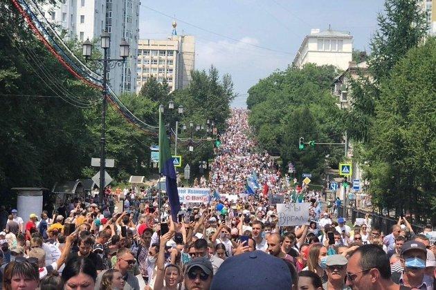 Митинг в Хабаровске, 18 июля