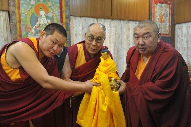 Баир лама Цымпилов, Далай лама XIV,Цырен лама Дондукбаев