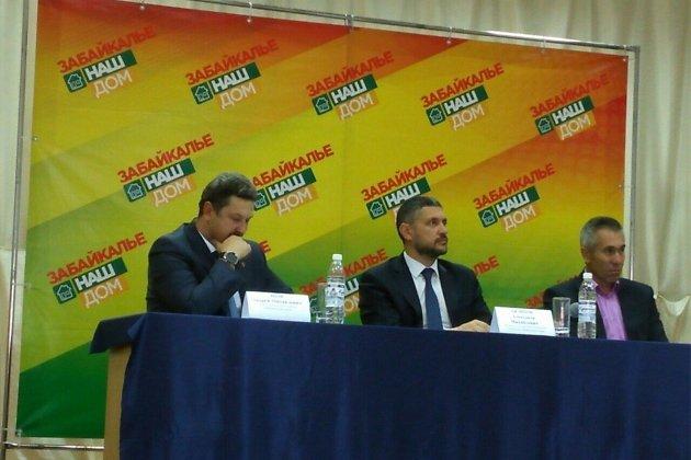 Слева направо: глава Забайкальского района Андрей Эпов, врио губернатора Забайкалья Александр Осипов и глава Забайкальска Олег Ермолин.
