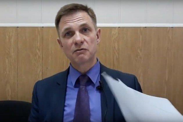 Кадр из видеообращения Евгения Корнева к блогеру Илье Варламову