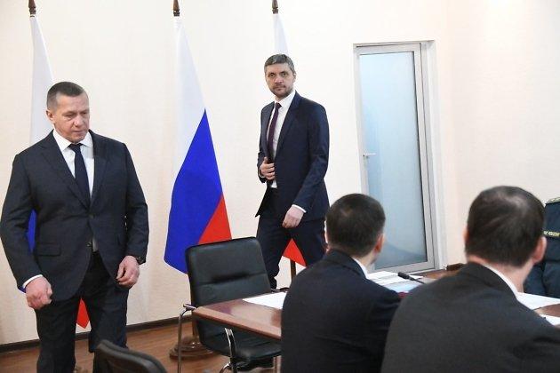 Полпред президента в ДФО Юрий Трутнев и врио губернатора Забайкальского края Александр Осипов
