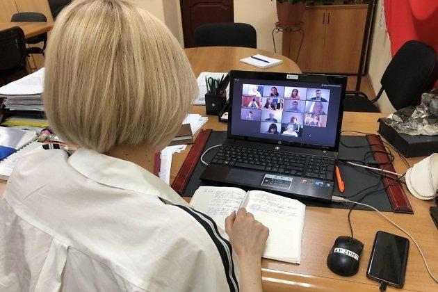 Виктория Бессонова на онлайн-совещании