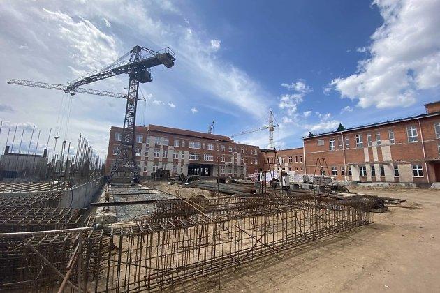 Строительство школы в микрорайоне Октябрьский в Чите