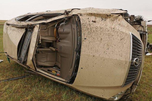 Слетевший с трассы Краснокаменск — Мациевская Lexus RX 350