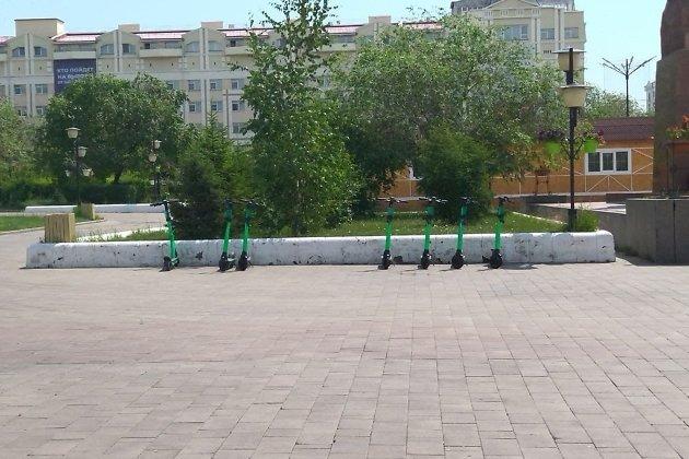 Площадь Ленина в Чите 9 июля в 12.53.