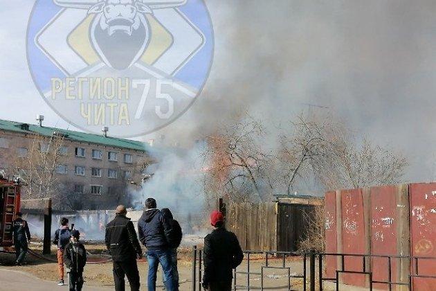 Пожар на улице Ползунова