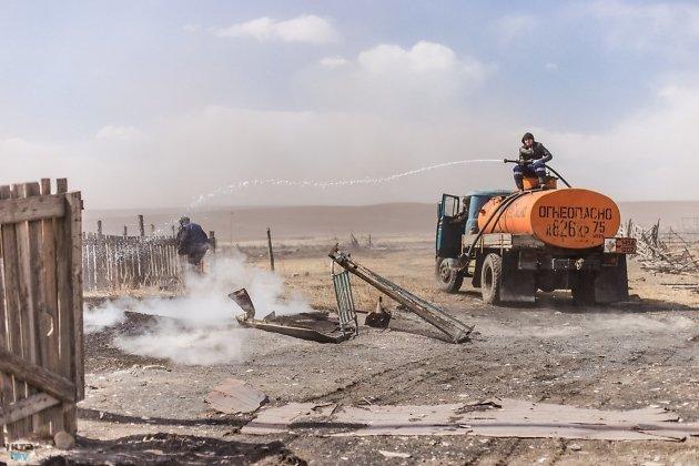 Добровольные пожарные села Хада-Булак Борзинского района