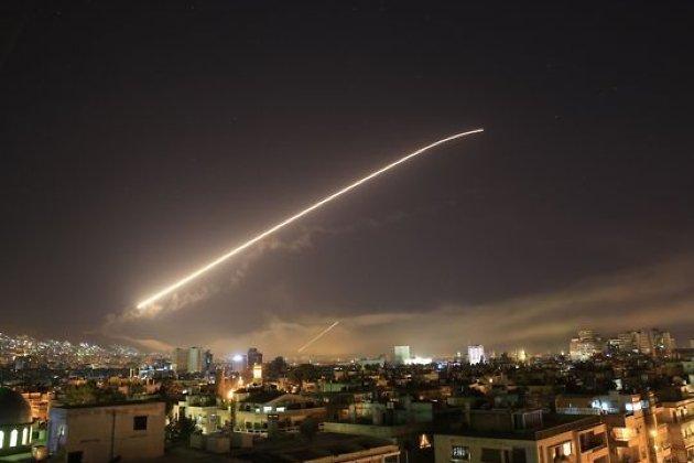 Ракетный удар по Дамаску