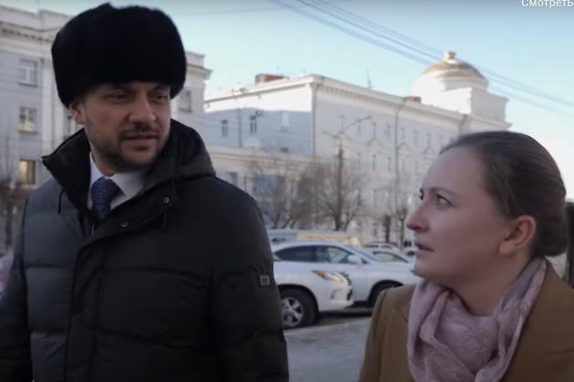 Наталья Макарова берёт интервью у Александра Осипова дла 75.ru, 23 декабря 2018 года