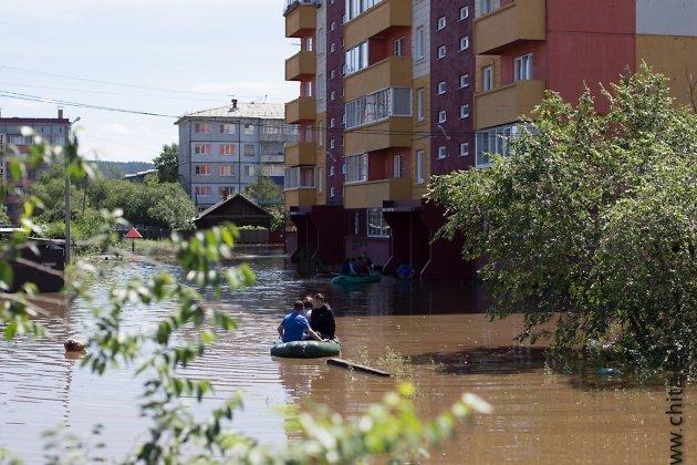 Наводнение в Чите, лето 2018 года