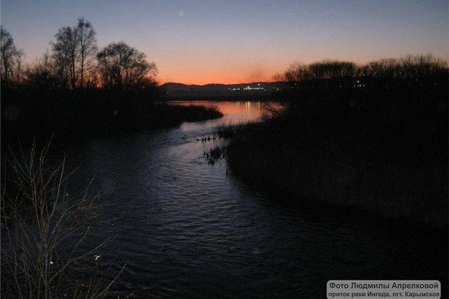 Приток реки Ингода у посёлка Карымское
