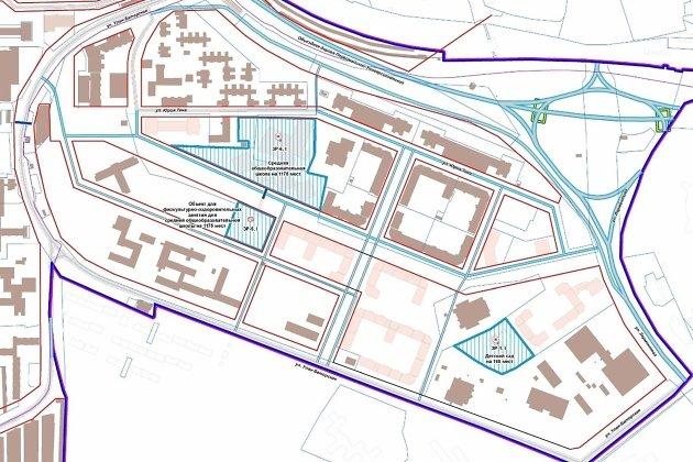 План размещения школы и детского сада
